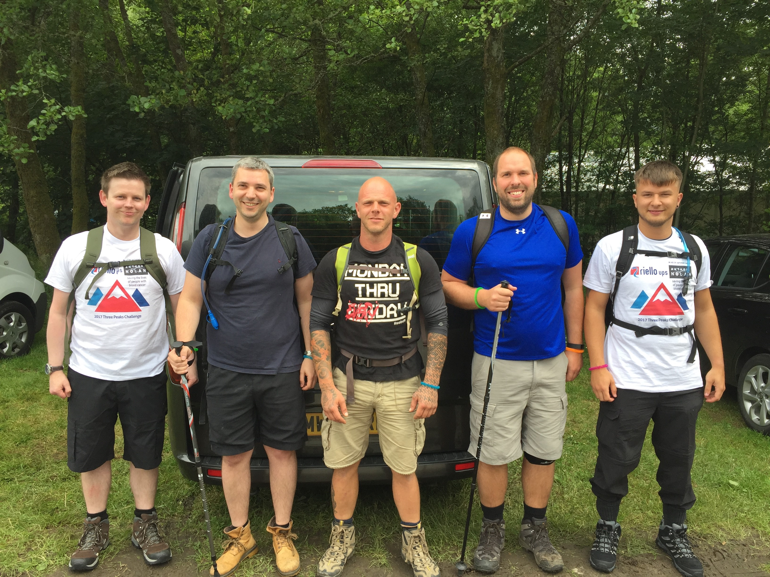The crew at the start of the 3 peaks challenge
